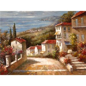 Home in Tuscany' Painting Print on Wrapped Canvas