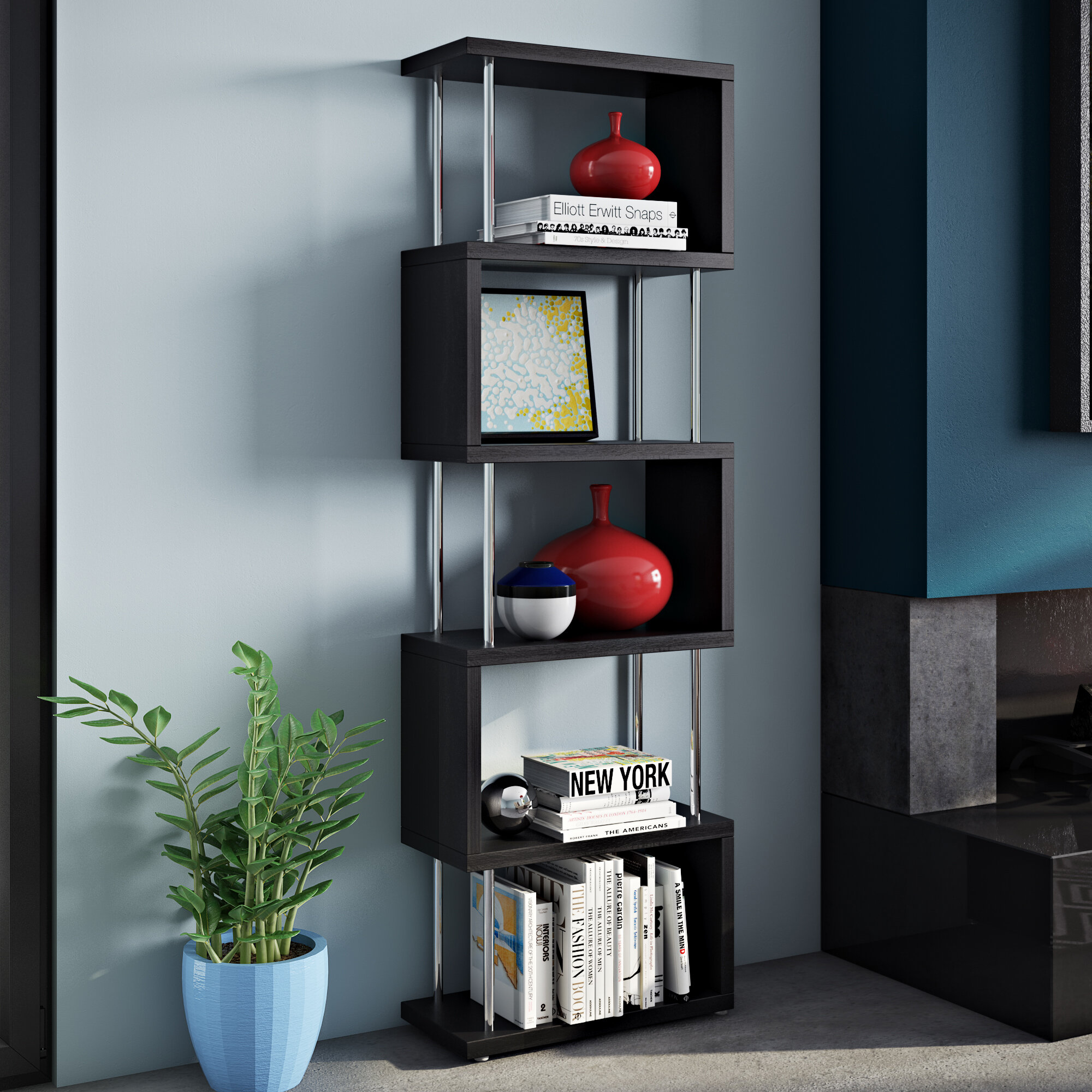 Wade Logan Adrianna Shelf Snake Cube Unit Bookcase & Reviews | Wayfair