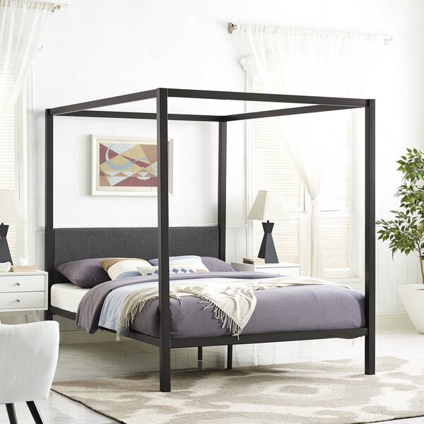 5e6b5c85598 Canopy Bed Frame Wayfair. Mainstays Metal Canopy Bed Multiple Colors Sizes