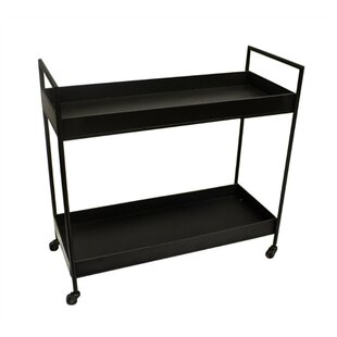Jabes Notable Metal 2 Shelf Bar Cart