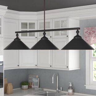 3 light kitchen island pendants youll love wayfair debra 3 light kitchen island pendant aloadofball Choice Image