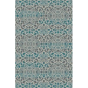 Fusion Turquoise/Silver Indoor/Outdoor Area Rug