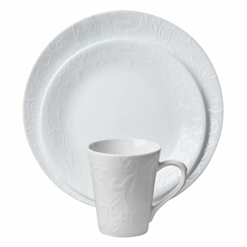Corelle Embossed Bella Faenza 16-pc Dinnerware Set  sc 1 st  Wayfair & Corelle Corelle Embossed Bella Faenza 16-pc Dinnerware Set u0026 Reviews ...