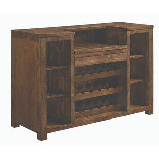 Rodriguez Wooden Bar with Wine Storage