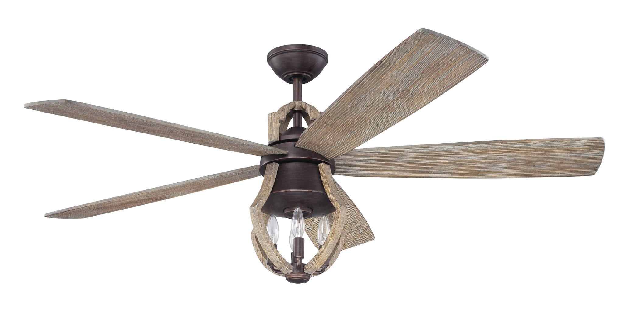 "Laurel Foundry Modern Farmhouse 56"" Marcoux 5 Blade LED Ceiling"