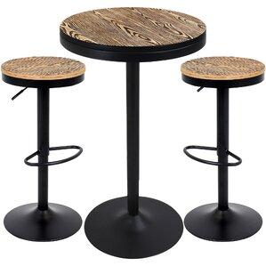 baer 3 piece adjustable pub table set