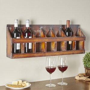sonoma 7 bottle wall mounted wine rack