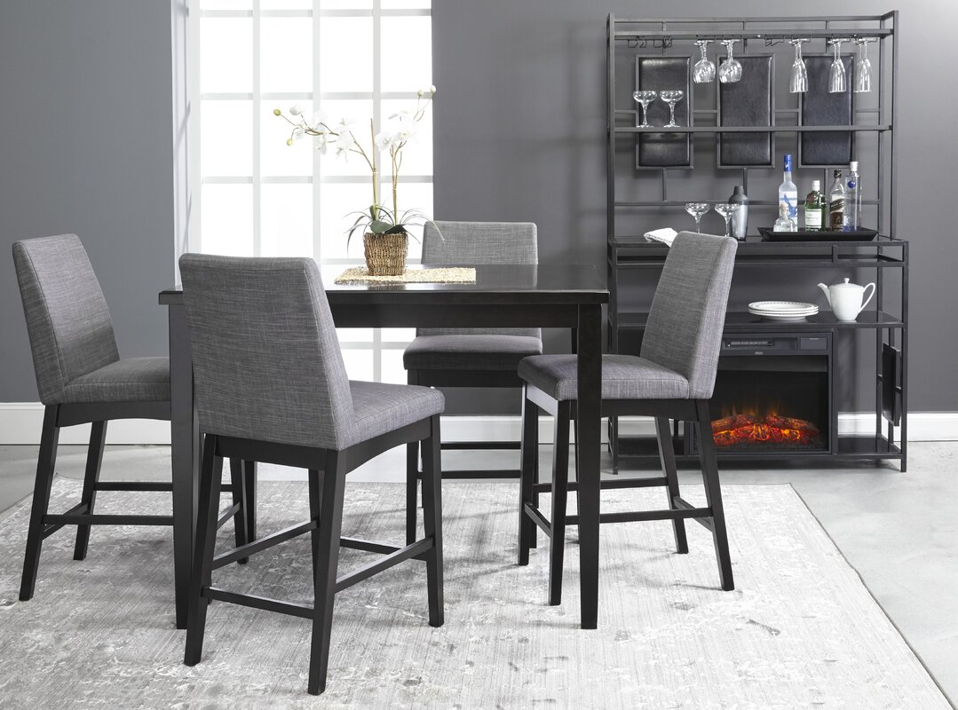 Trotwood 5 Piece Bar Height Dining Set