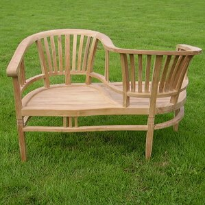 betawi garden 2 seater teak love seat - Garden Furniture Love Seat