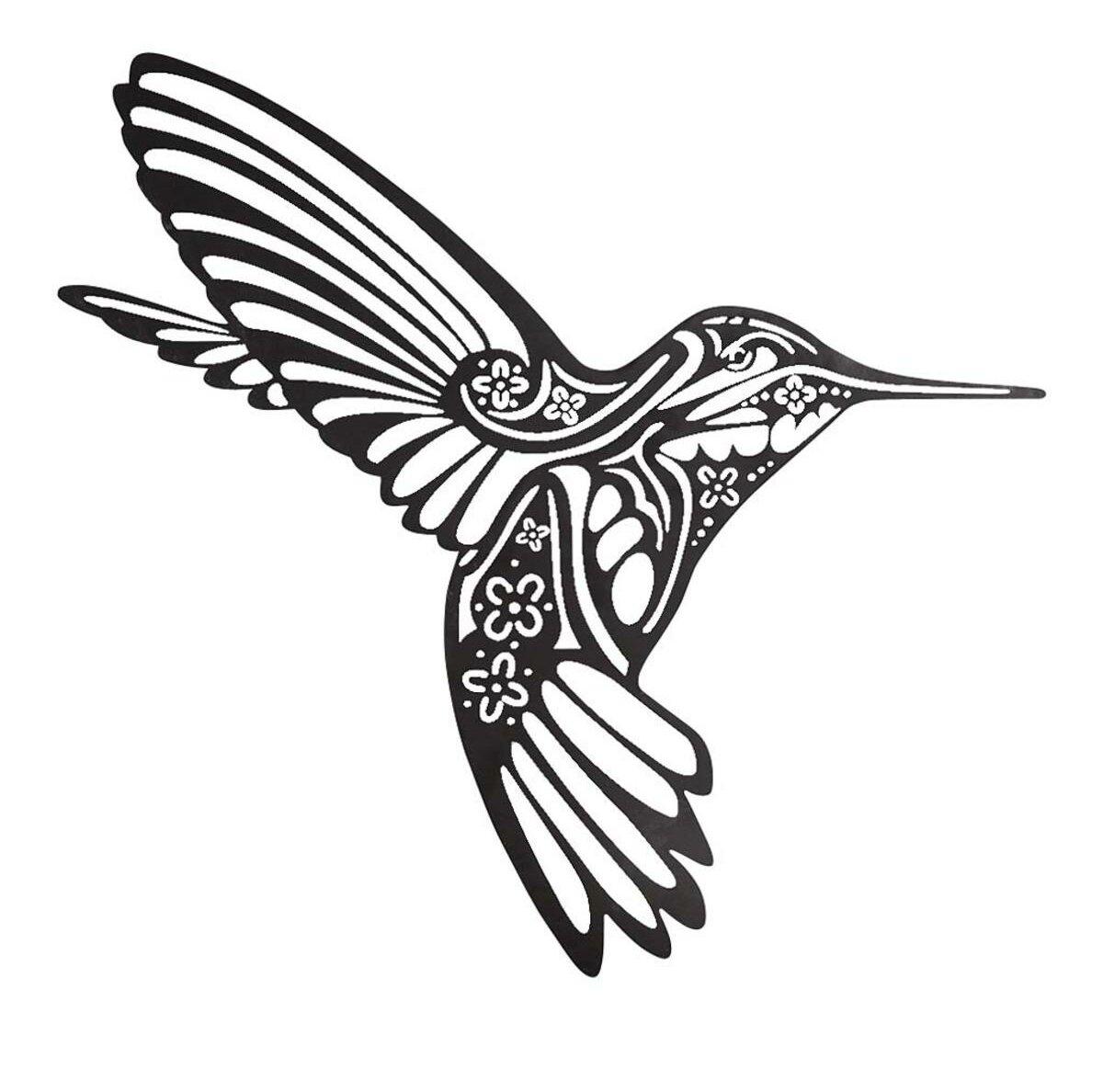 Hummingbird Silhouette Metal Wall Decor