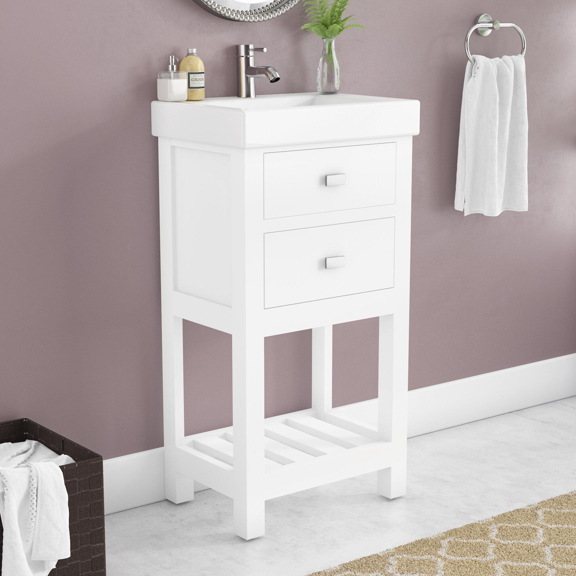 Zipcode Design Knighten 18 Single Bathroom Vanity Set Reviews Wayfair