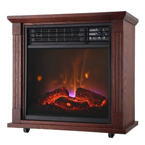 Comfort Glow Quartz Mobile Electric Fireplace Image
