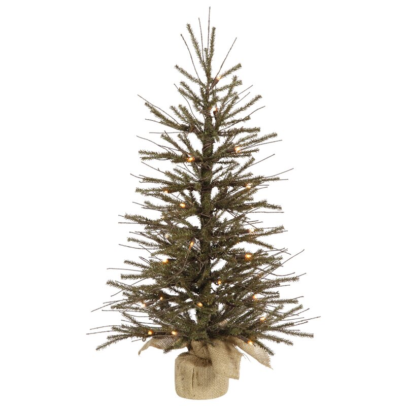 The Holiday Aisle 2' Brown Vienna Twig Artificial Christmas Tree ...