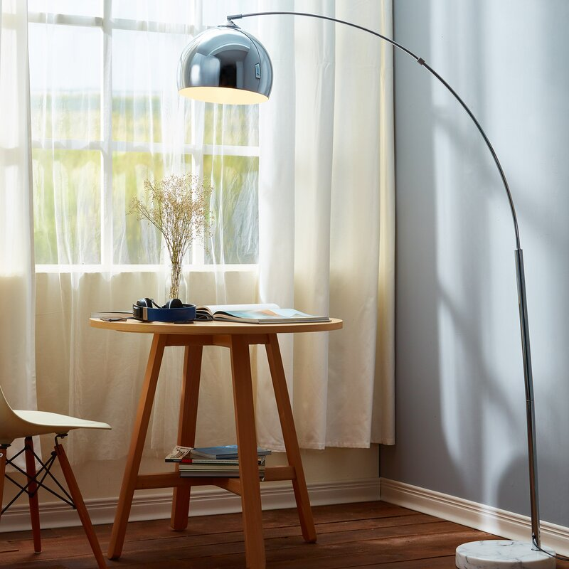 Arquer 66 93 arched floor lamp