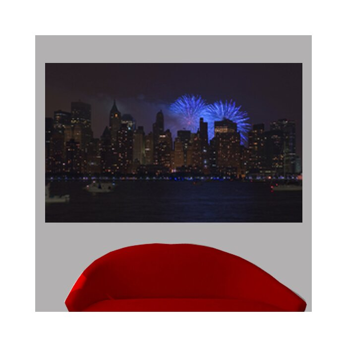 New York Skyline Glossy Wall Mural