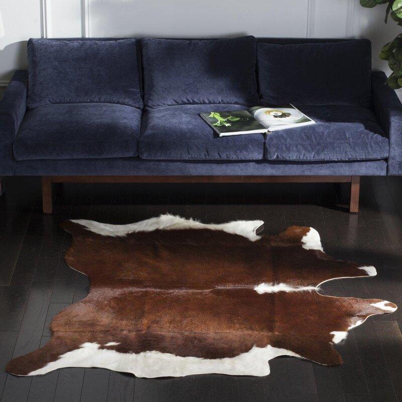 Safavieh Cow Hide Caramel Area Rug & Reviews