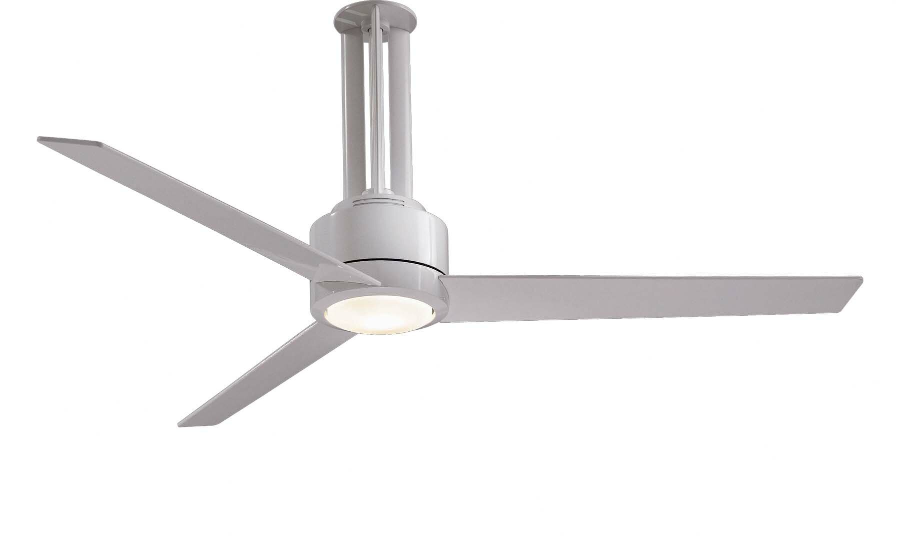 "Minka Aire 56"" Flyte 3 Blade LED Ceiling Fan with Remote & Reviews"