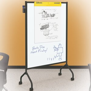 essentials double sided mobile whiteboard - Rolling Whiteboard