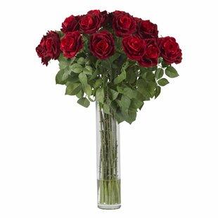 Large silk floral arrangements wayfair large rose silk floral arrangements mightylinksfo