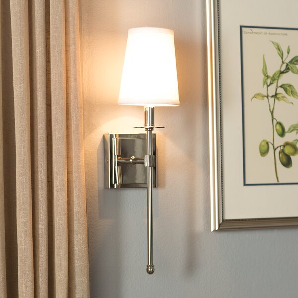 Bath Sconces With Shades three posts cooperstown 1-light wall sconce & reviews | wayfair