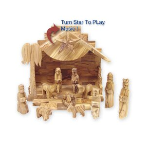 Silent Night Musical Nativity Set