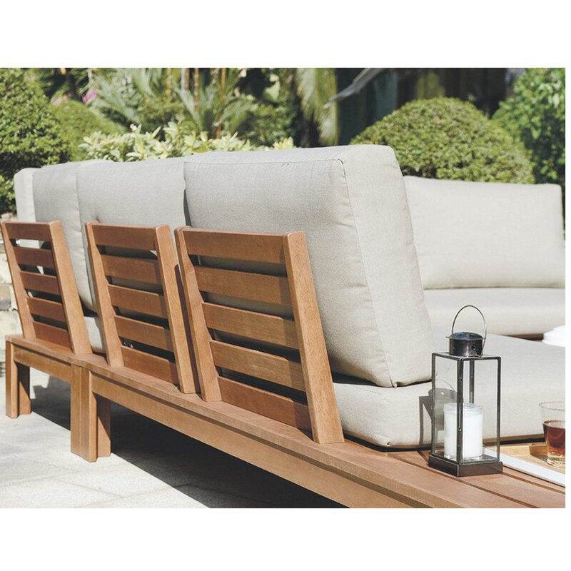 Outdoor Wood Corner Sofa | Baci Living Room