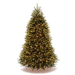 Fir 7.5' Green Artificial Christmas Tree with 750 LED Lights