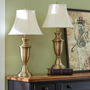 Antique brass table lamp sets table lamps youll love wayfair rowan 305 table lamp set of 2 aloadofball Image collections