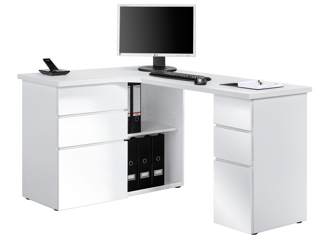 white office corner desk. office corner desk white