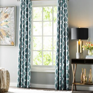 Mineral Blue Grommet Curtains