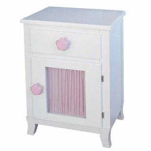 Parkgate Flowers 1 Drawer Nightstand by Viv   Rae