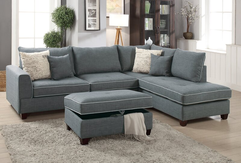 Exceptionnel Malta Reversible Sectional With Ottoman
