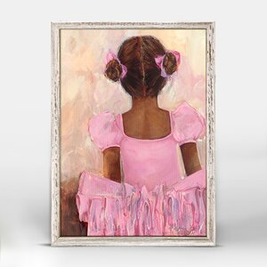 Deandra Perfect Ballerina African American Framed Canvas Art