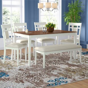 Nelligan 6 Piece Breakfast Nook Dining Set