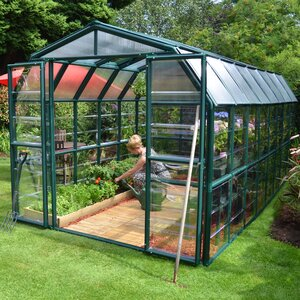 Grand Gardener 2 Clear 8 Ft. W x 16 Ft. D Greenhouse