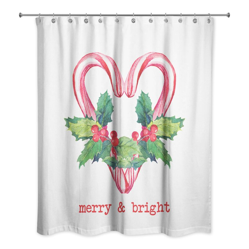 Gragg Merry And Bright Candy Canes Shower Curtain