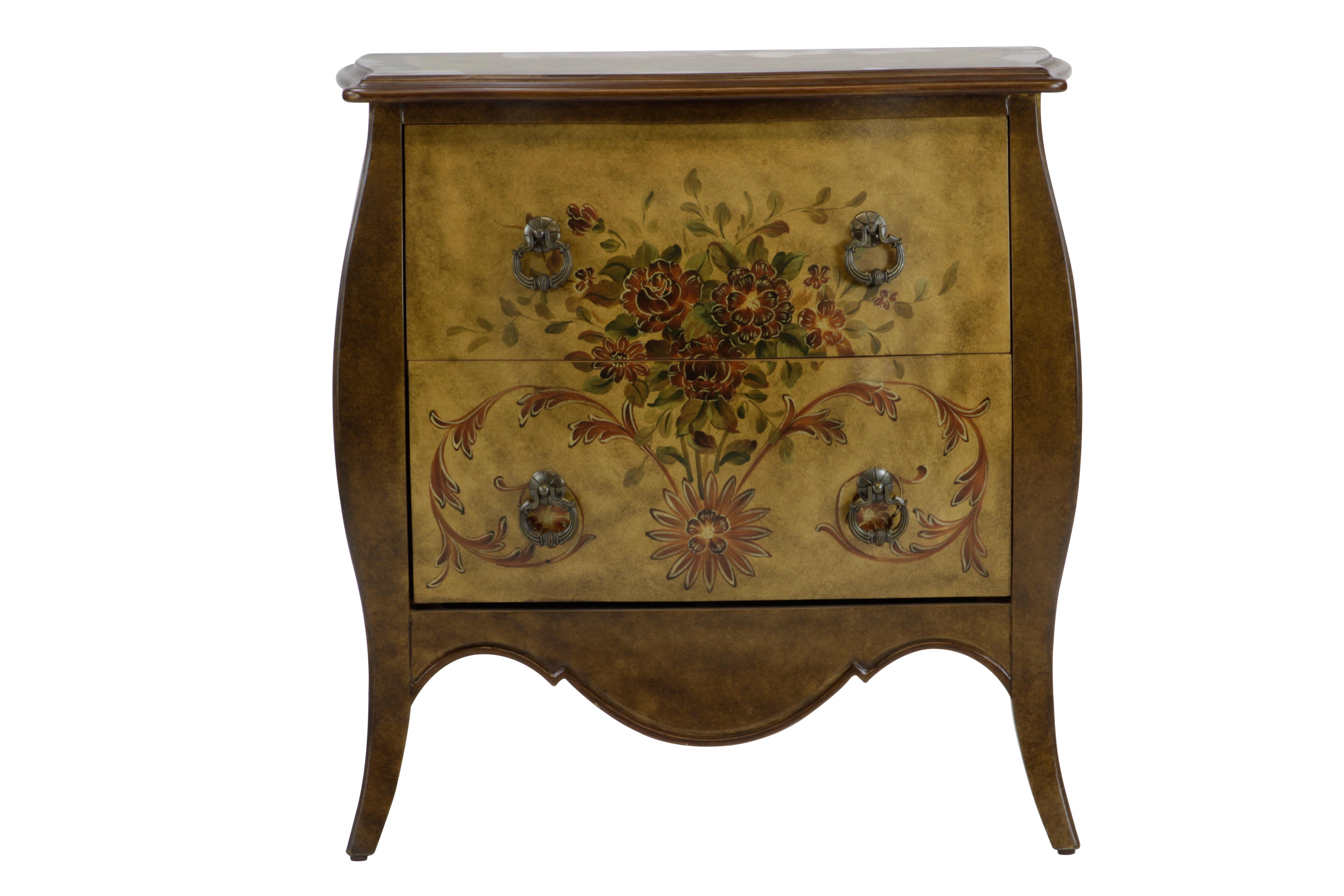 Fleur de lis living cephas hand painted 2 drawer accent chest wayfair