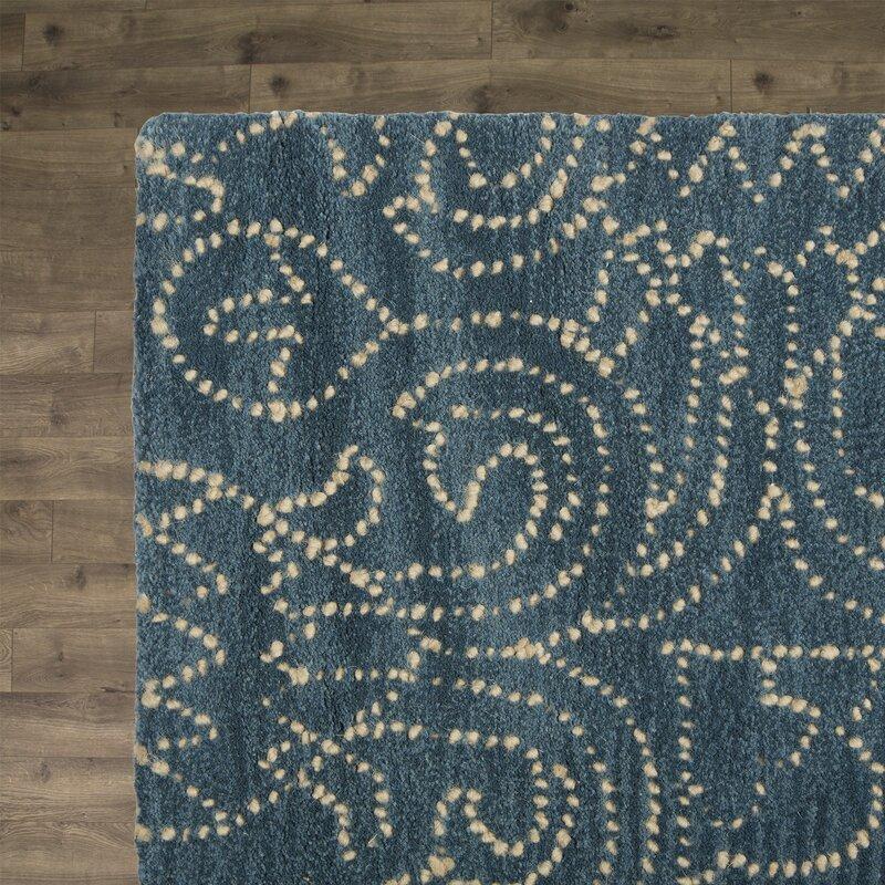 Birch Lane Heritage Omar Deep Blue Tufted Wool Area Rug Reviews
