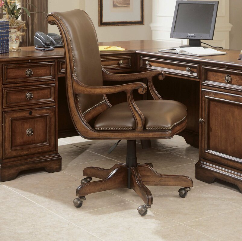 Hooker Furniture Brookhaven Leather Bankers Chair Reviews Wayfair