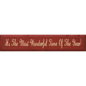 It's The Most Wonderful Time Of The Year Textual Art Plaque