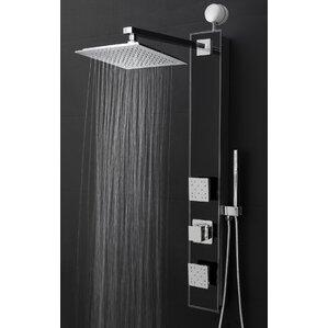 rain shower head with handheld. Temperature Control Rain Shower Head Panel Systems You ll Love  Wayfair