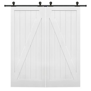 white interior 2 panel doors. Double Stile And Rail Z Planked MDF 2 Panel Interior Barn Door With  Hardware (Set Of 2) White Interior Panel Doors