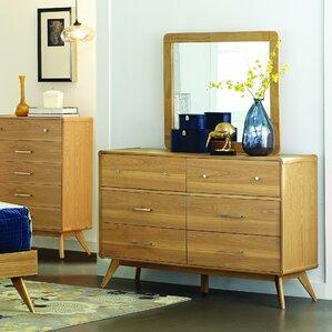 Garvey 6 Drawer Double Dresser with Mi..