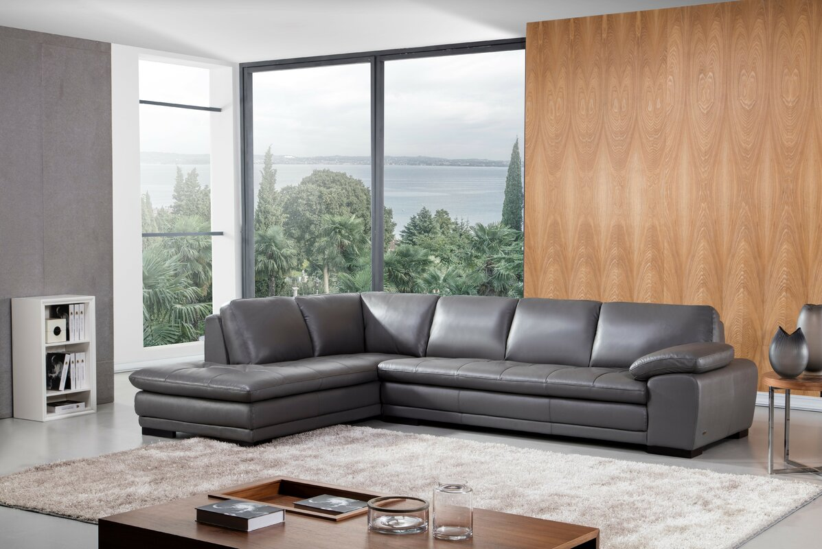 Stockbridge Leather Sectional : chaise leather sectional - Sectionals, Sofas & Couches