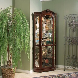Purvoche Lighted Corner Curio Cabinet by ..