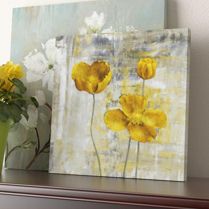 Three posts yellow flowers ii painting print on canvas reviews yellow flowers ii painting print on canvas mightylinksfo