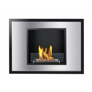 Bellezza Mini Recessed Ventless Wall Mount Ethanol Fireplace by Ignis Products