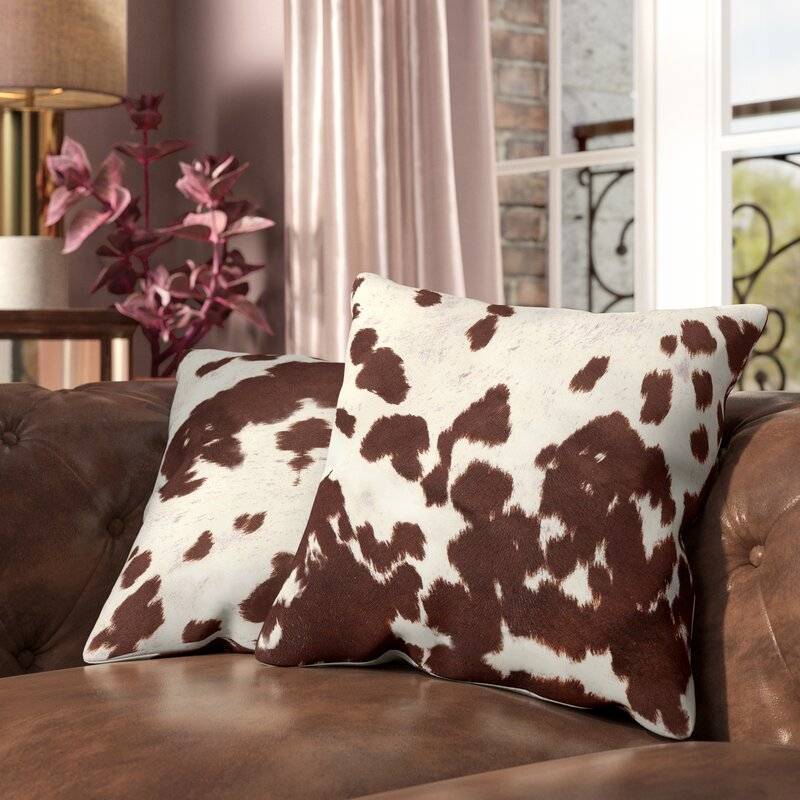 Willa Arlo Interiors Margarida Cow Hide Print Throw Pillow U0026 Reviews |  Wayfair