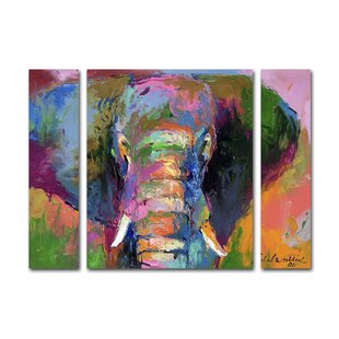 Elephant 2 By Richard Wallich 3 Piece Painting Print On Wrapped Canvas Set