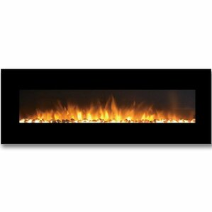 Savannah Pebble Linear Wall Mount Electric Fireplace by Gibson Living